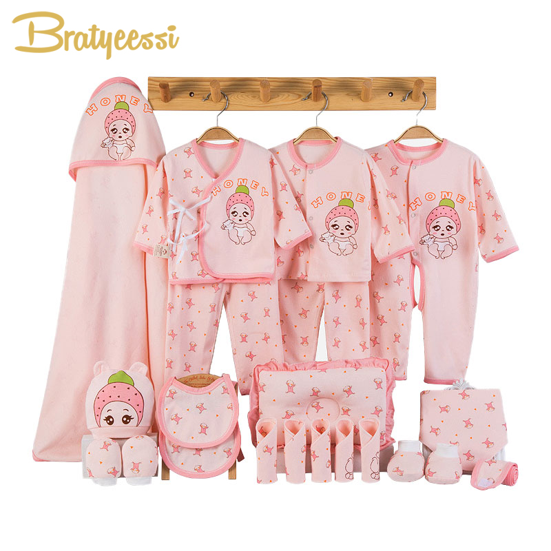Newborn Baby Clothes Soft Cotton Toddler Baby Boy Girl Clothes Set Cartoon Infant Clothing New Born Gift Set 3 Colors цена