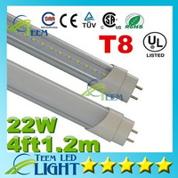 X10 CE UL 4ft 1.2m T8 18W 22W Led Tube Light 2200lm 85-265V Led lighting Best Replace Fluorescent Tubes Lamp + Warranty 3 Years