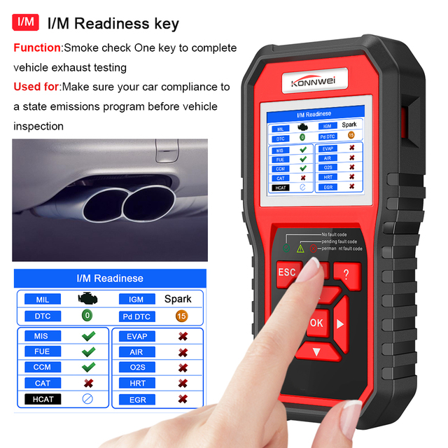 OBD2 ODB2 Scanner Auto Diagnostic Scanner KONNWEI KW850 Full Function Car Diagnosis Car Scanner Universal OBD Engine Code Reader