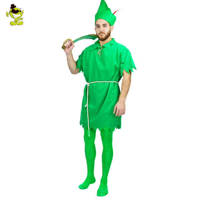 2018 hot sale peter pan halloween costumes adults man moviecartoon figure outfits for fairy role play