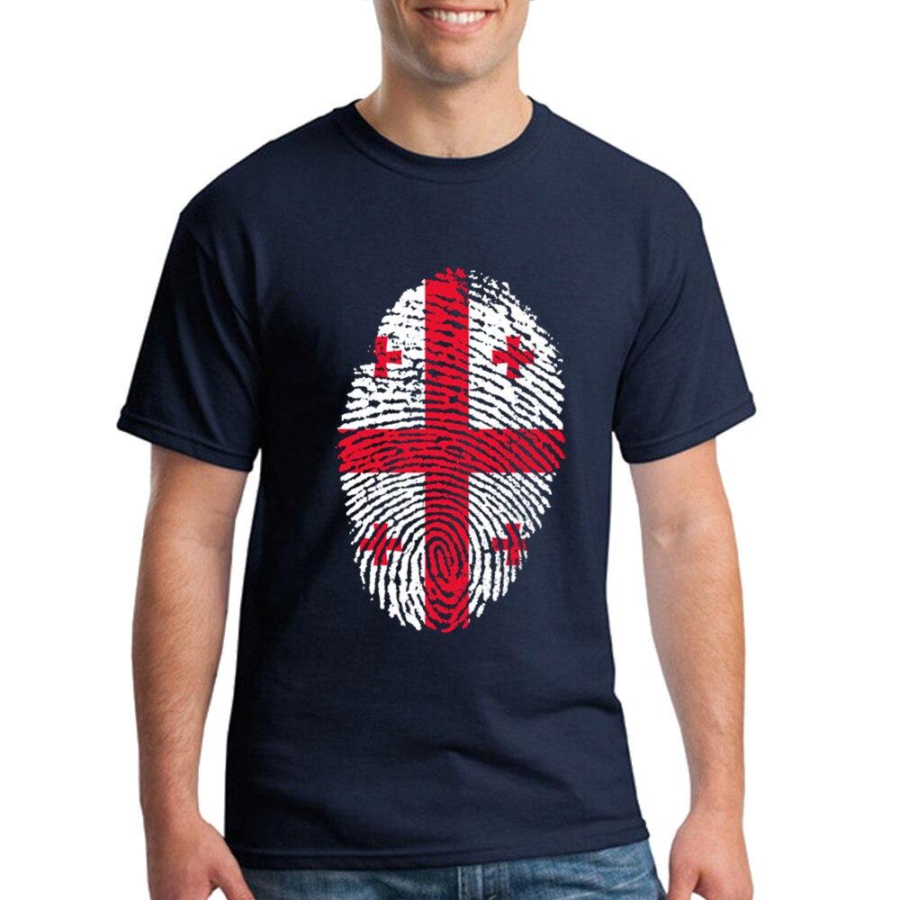 Design t shirt and sell online - Hot Sell 2017 New Fashion Brand Georgia Flag Fingerprint Cotton Mens T Shirt Ajax Trasher Palace