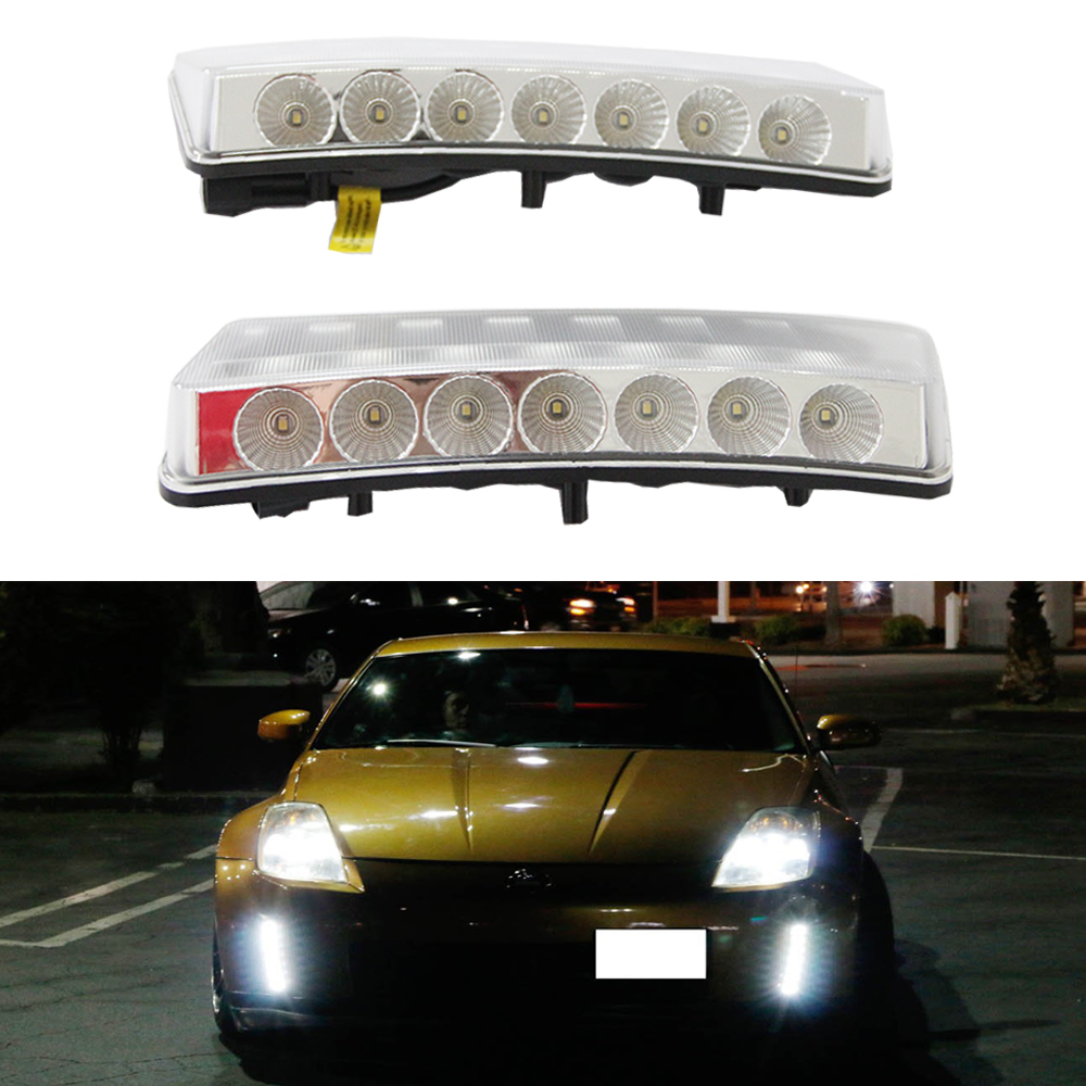 Auto Car styling 12v 6000k LED CAR light DRL Daytime Running Lights For Nissan 350Z/Z33 03-05 Day Driving Light lamps lyc headlights auto day running light kit truck light parts led lights car 6000k 7 inch led round 1800lm lamp car styling