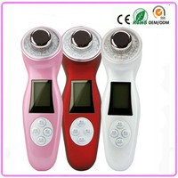 Free Shipping Personal Skin Care Rechargeable Ultrasonic Ion Led Light Photon Beauty Facial Massager EU UK