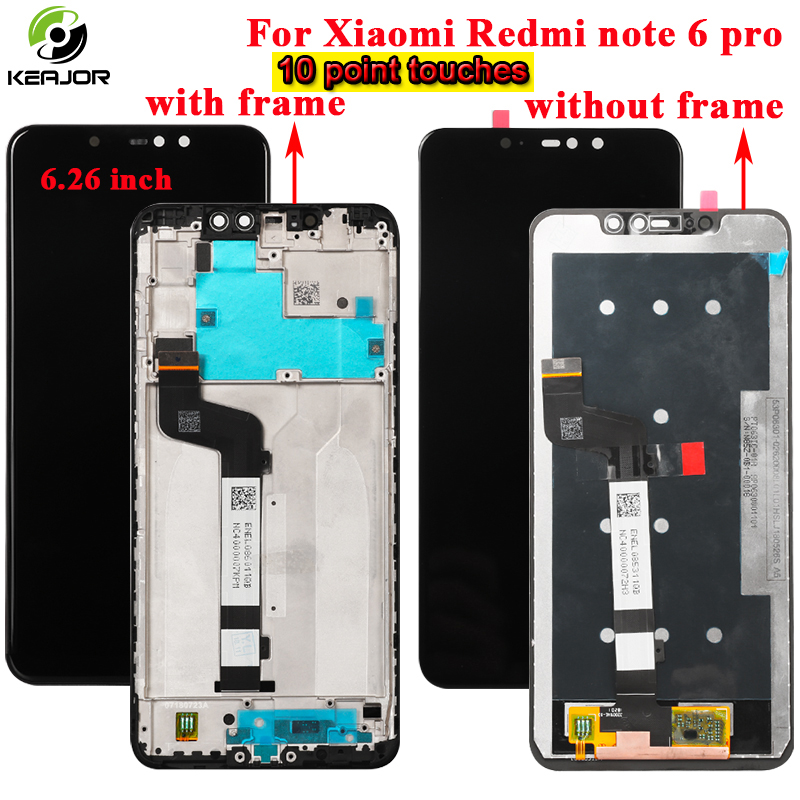 for Xiaomi Redmi note 6 pro LCD Display+Touch Screen+Frame Glass Panel Digitizer Accessories replacement For Redmi note 6 pro