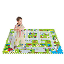 City Road Traffic Baby EVA Foam Carpet Puzzle Crawling Rugs Car Track Playmat Toddler Racing Games Play Mat Toys For Children(China)
