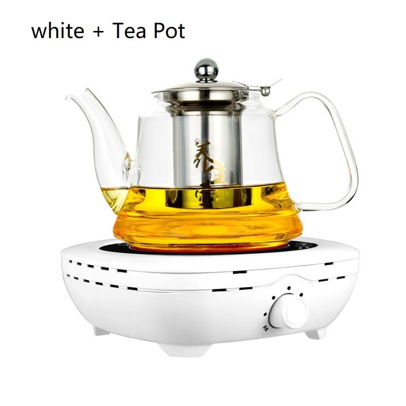 AC220 240V 50 60 hz mini elektrische keramische kookplaat kokend thee verwarming koffie 800 w power FORNUIS KOFFIE HEATER MET THEE POT