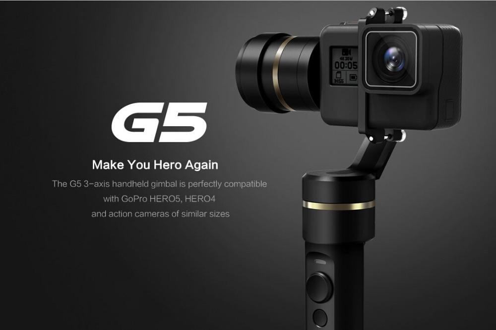 New Feiyu G5 Handheld Gimbal for GoPro HERO 5 4 Xiaomi yi 4k SJ AEE Action Cams Splashproof Bluetooth-enabled control Humanized feiyu g5 3 axis handheld gimbal for gopro hero5 5 4 xiaomi yi 4k sj aee action cams splashproof bluetooth enabled control