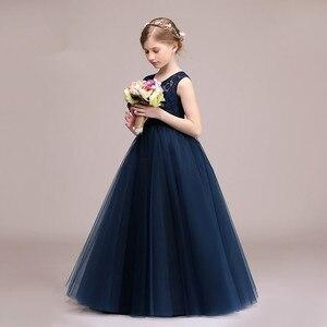 Image 3 - Cielarko meninas vestido de malha rendas festa de casamento crianças vestidos tornozelo comprimento elegante vestidos bola do bebê roupas para a menina