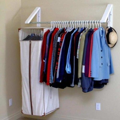 Systeme De Rangement Vetement multifonction folding mural des vêtements cintre placard de