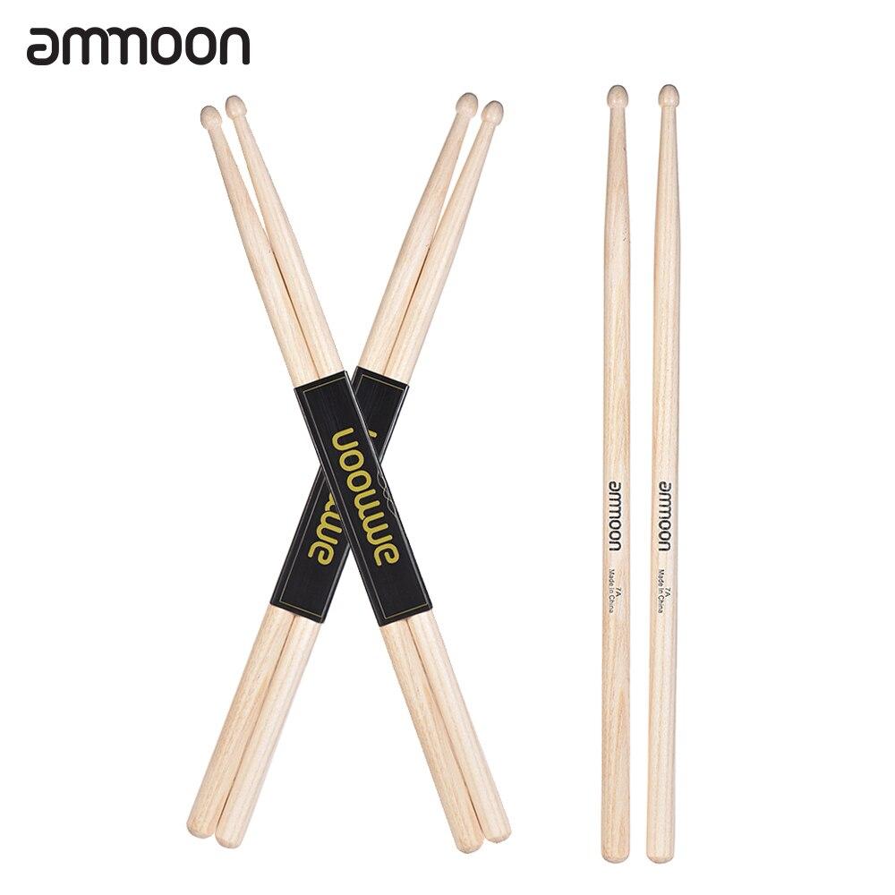 buy ammoon standard 7a wooden drumsticks drum sticks fraxinus mandshurica wood. Black Bedroom Furniture Sets. Home Design Ideas
