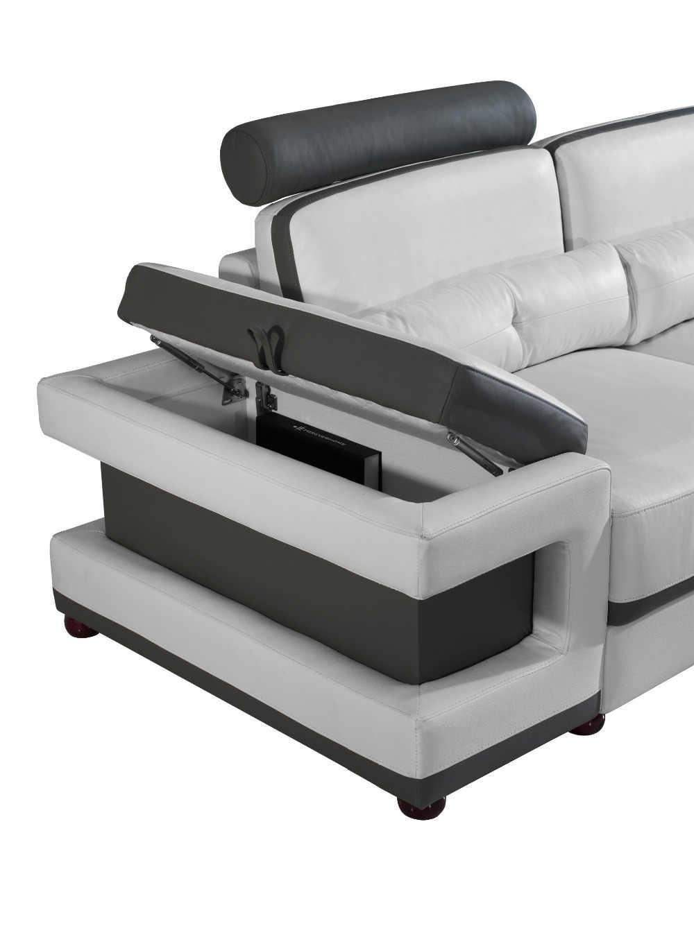 Large Corner Leather Sofa For Modern Sectional Sofa U Shaped