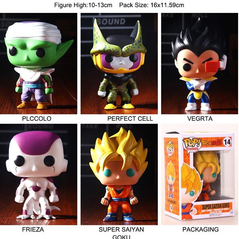 ФОТО Dragon Ball Z POP Series, Son Goku Vegeta Piccolo Frieza Cell 5 PCS SET PVC Action Figure Collectible Model Toy Free Shipping