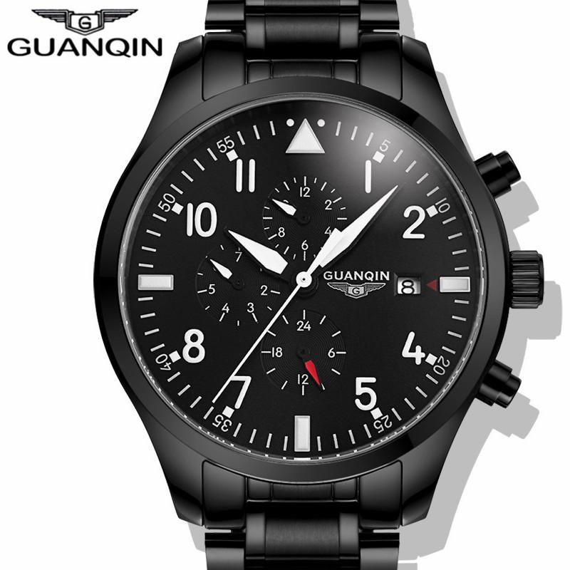 Prix pour GUANQIN Montre Hommes Marque De Luxe Automatique Auto-Vent Mécanique Sport Montres Hommes Mode Étanche Montre-Bracelet relogio masculino