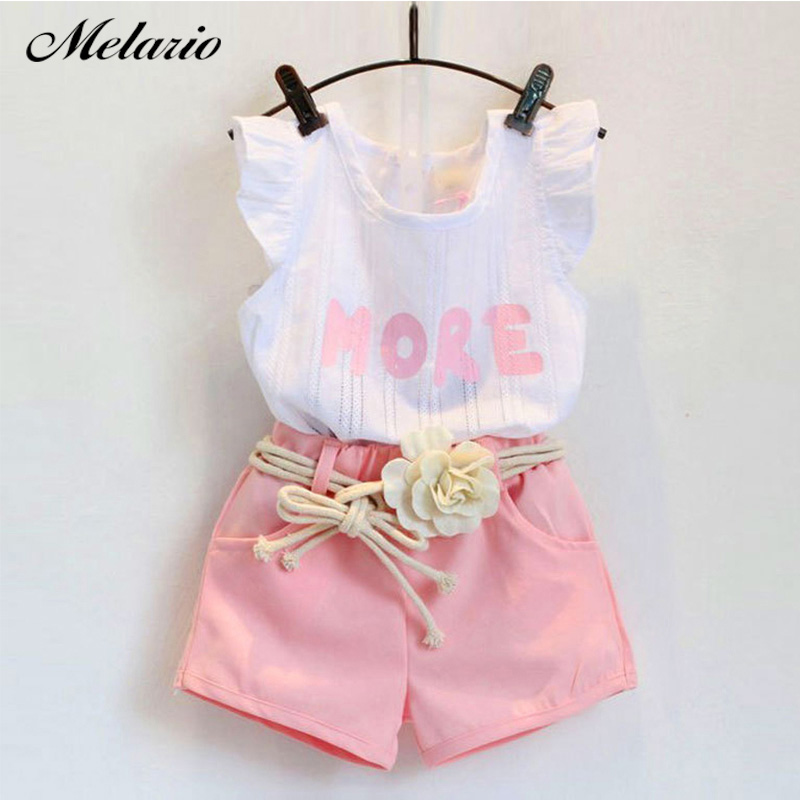 826919120a55 Cheap Conjunto de ropa de verano para niña Melario, con hombros a rayas, sin