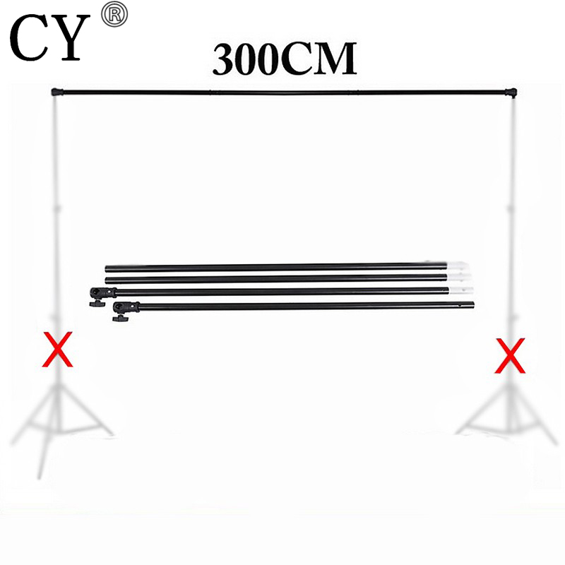 Photography Photo Studio Vedio Background Backdrops Support Crossbar 3m Background Cross Bar for Light Stand Tripod