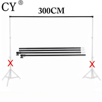 Photography Photo Studio Vedio Background Backdrops Support Crossbar 3m Background Cross Bar for Light Stand Tripod PSBS1
