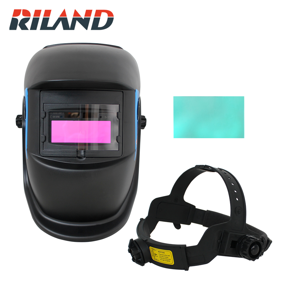 RILAND X501 Auto Darkening Good Quality Welding Mask Cap Welding Helmet Solder Mask Automatic Welder for MMA ARC Welding Machine fire flames auto darkening solar powered welder stepless adjust mask skull lens for welding helmet tools machine free shipping