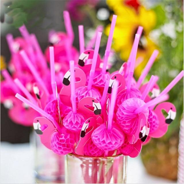 Nowy 10 Sztuk/partia Śliczne 3D Flamingo Bendy Słomy Elastycznego Tworzywa Sztucznego Picia Słomki Urodziny Dla Dzieci/Ślub/Pool Party Decoration materiałów eksploatacyjnych