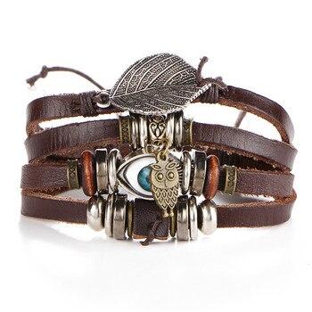 Vintage Multilayer Leather Bracelet for Men Bracelets Jewelry Men Jewelry New Arrivals Metal Color: BJDY185
