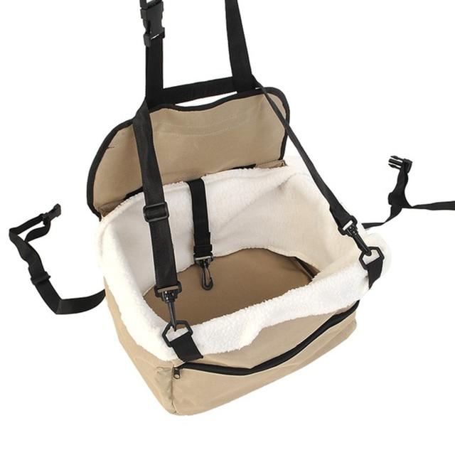 Portátil Segurança do assento de carro Macio Filhote de Cachorro Do Gato Do Cão do animal de Estimação Gaiola Transportadora Assento de Carro Viagens Sacola Cesta Bagagem