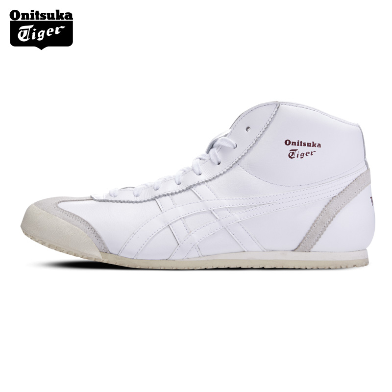 Onitsuka Tiger MEXICO Mid Runner 2018 New Unisex Sneakers Men Retro Breathable Athletic Shoes Women Light Sports Boots HL328 цены онлайн