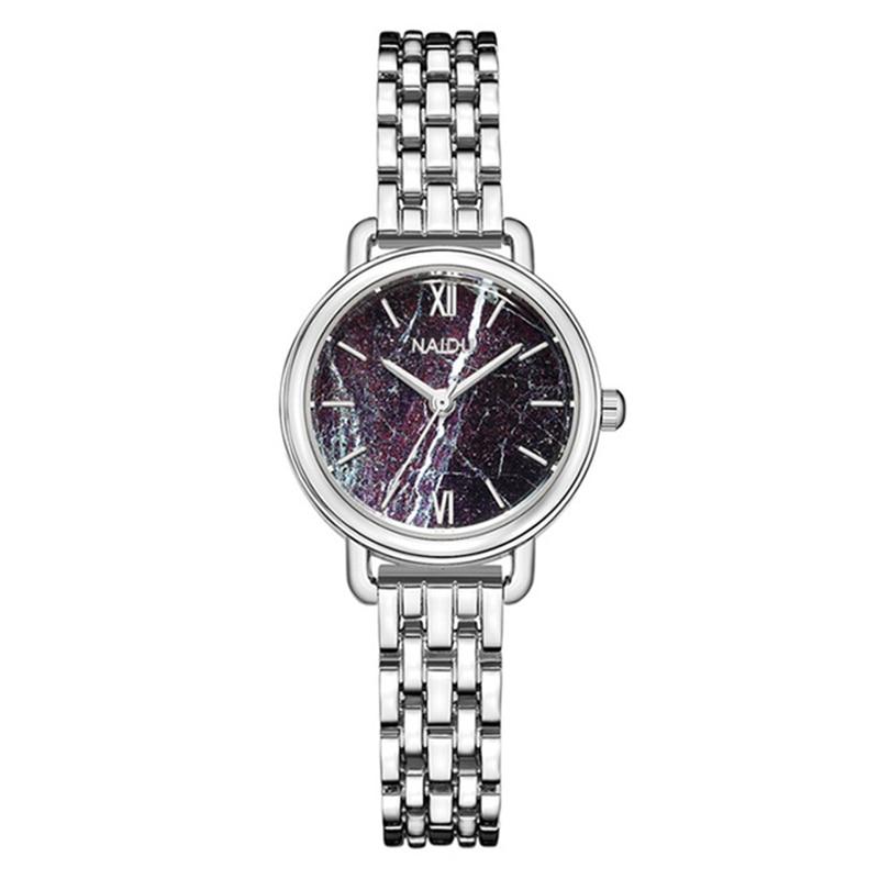 цена на Luxury Women Bracelet Watches Stainless Steel Strap Ladies Quartz Wristwatch Fashion Lady Marble Dial Female Watch Reloj Mujer