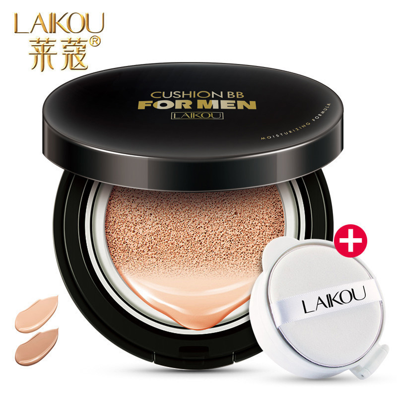 LAIKOU Men BB Cream Concealer Face Natural Whitening Skin Care Long Lasting Oil Control Sunscreen Makeup 15g+15g