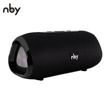 NBY 6660 bluetooth hoparlör taşınabilir kablosuz hoparlör Mic ile 10W sütun Stereo ses hoparlör telefonları PC için