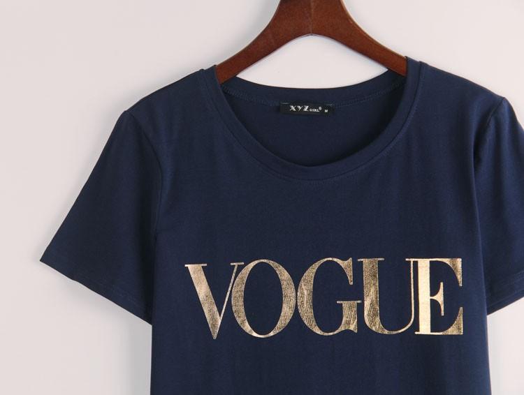 HTB1sRPJJVXXXXbAXVXXq6xXFXXX0 - VOGUE Printed T-shirt Women Tops Tee Shirt Femme New Arrivals