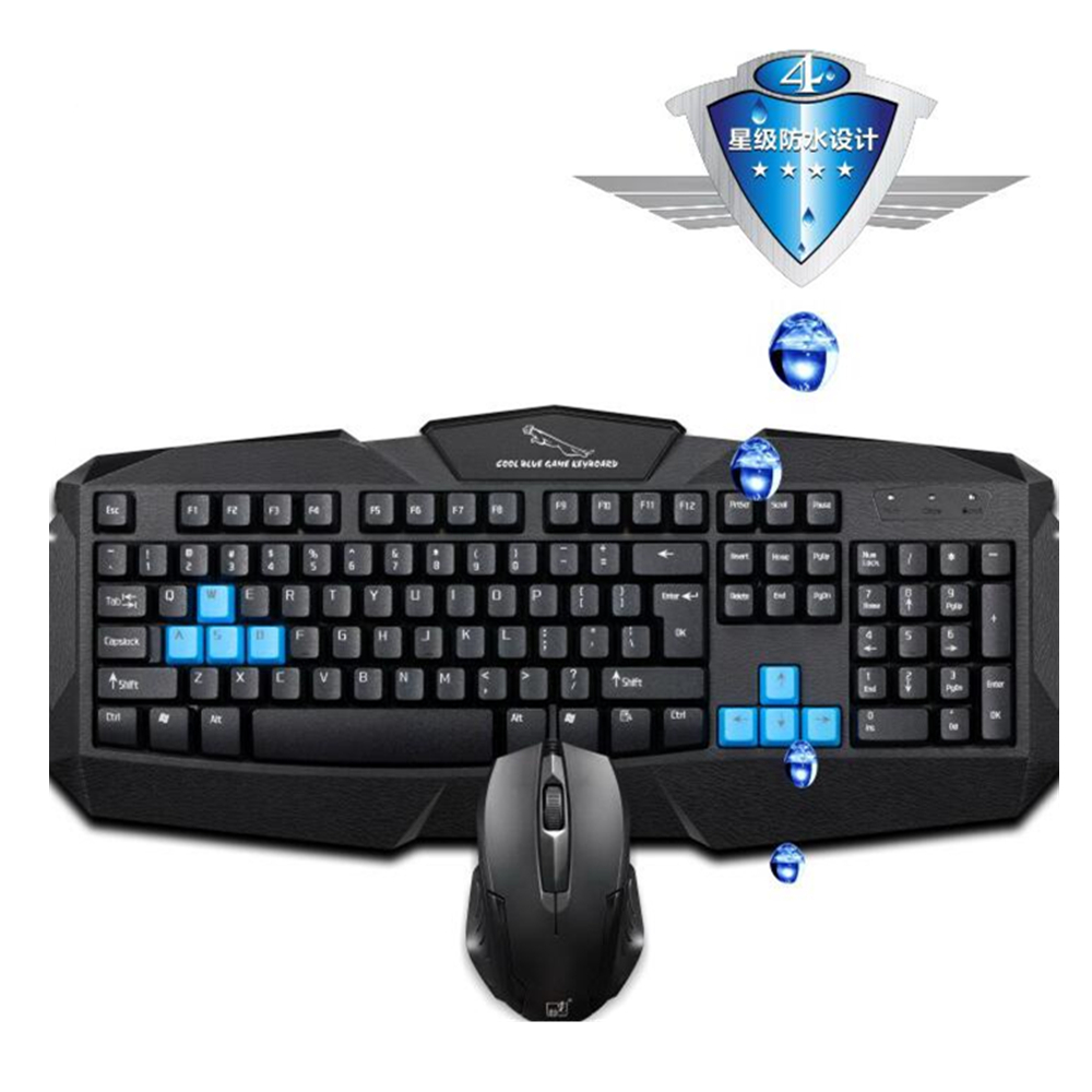 buy gaming keyboard mouse set usb wired keyboard with mouse for pc computer. Black Bedroom Furniture Sets. Home Design Ideas