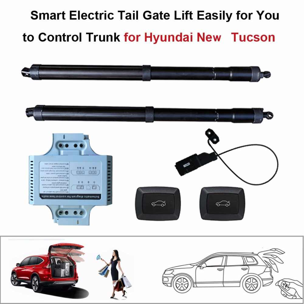 smart auto electric tail gate lift for hyundai new tucson control set height avoid pinch [ 1000 x 1000 Pixel ]