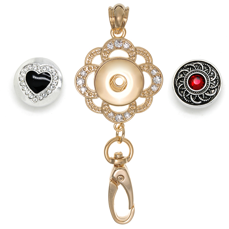 Charms & Charm Bracelets Purposeful Owl Pendent With Crystal Eyes Fits 18mm To 20mm Snap Buttons