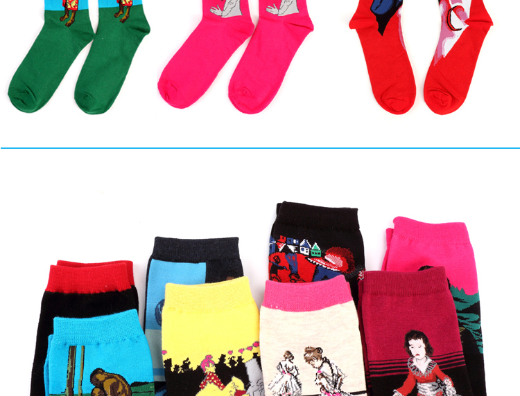 Hot Autumn winter Fashion Retro Women New Personality Art Van Gogh Mural World Famous Oil Painting Series Men Socks Funny Socks HTB1sRPXKXXXXXbOXVXXq6xXFXXX8