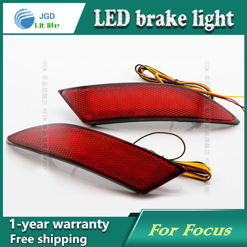 Car Styling Rear Bumper LED Brake Lights Warning Lights case For Ford Focus 2012 2013 Accessories Good Quality купить