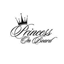 16.5*10.9 Cm princess A Bordo Divertido Texto De La personalità Etiqueta Engomada Del Coche Del Vinilo De La Manera