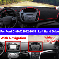 Tampa do Painel Do carro Mat Traço Para Ford CMAX 2012 2013 2014 2015 2016 2017 2018 Dashmat C MAX Tapete Pad Sol sombra Carro Styling|Tapete anti-sujeira p/ carros|   -