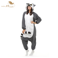 2016 Unisex Pajamas Costume Cosplay Animal Kigurumi Onesies Sleepwear For Women Men Adults Child Long Tailed