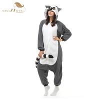 2016 Unisex Pajamas Costume Cosplay Animal Kigurumi Onesies Sleepwear For Women Men Adults Child Long Tailed