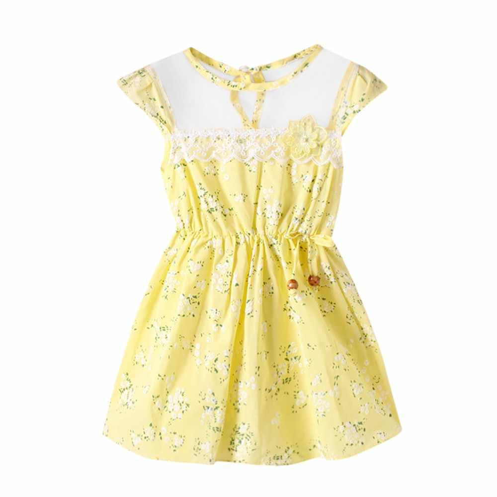Kids Dresses For Girls Party Dress Newborn Princess Dress Toddler Baby Girls Floral Print Lace Net Casual PrincessDress Clothes