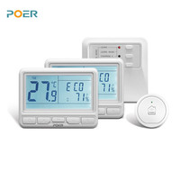 868MHz Wireless Room Controller Heating Thermostat Weekly Programmable App Control 2pc Thermostats1pc Receiver 1pc Gateway