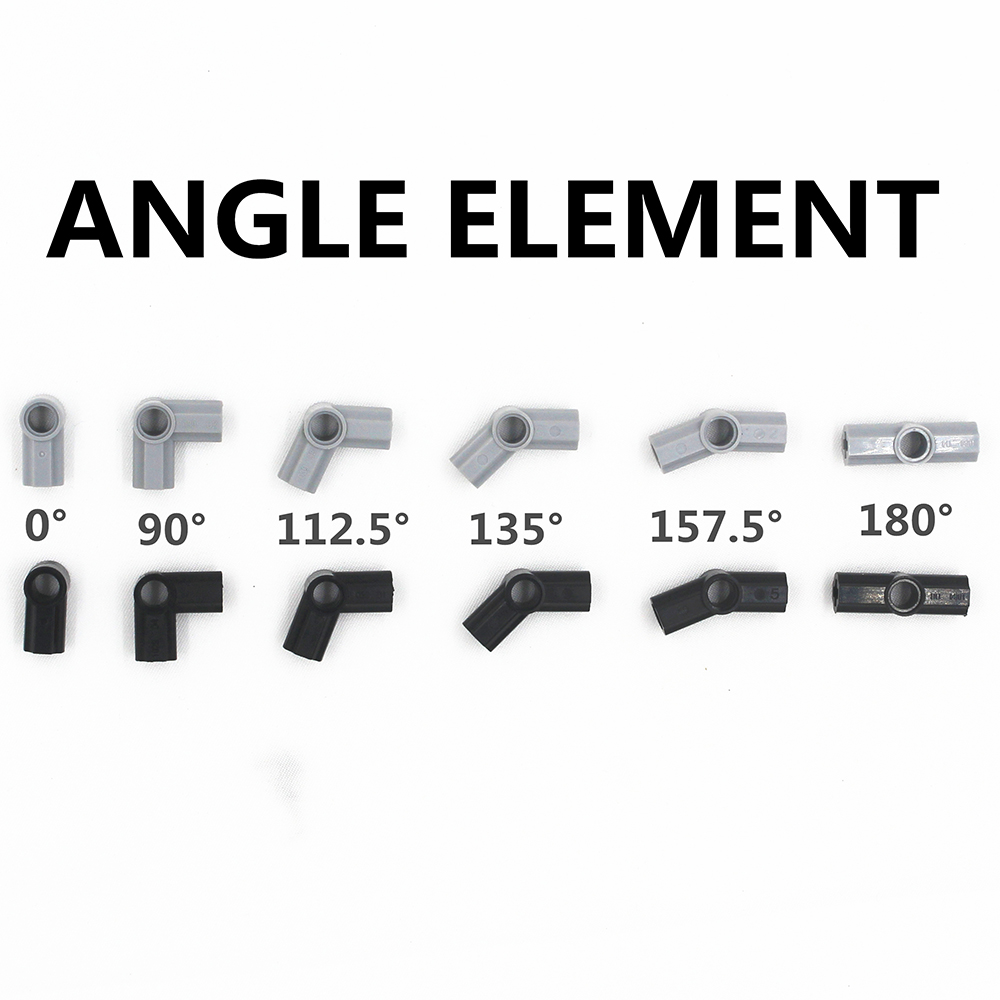 Building Blocks MOC Technic Parts 20pcs ANGLE ELEMENT Compatible With Lego For Kids Boys Toy
