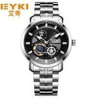 Eyki thương hiệu nổi tiếng men mechaniccal đồng hồ relogio luxury luminous 24 giờ mens cơ đồng hồ đeo tay clocsk nam giới.