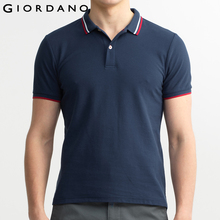 Giordano Men Branded Polo Shirt Short Sleeves Collar Solid Cotton Camisa Polos Homme Clothing Chemmise Famous Hombre