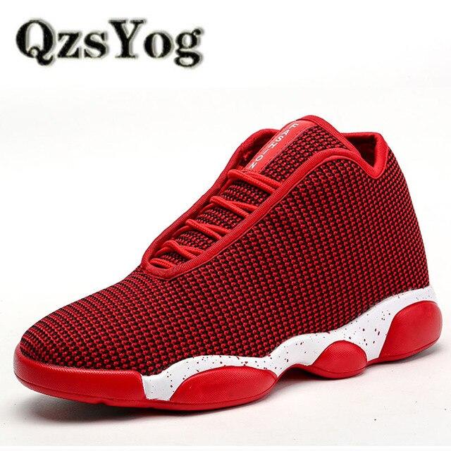 687e9237 QzsYog zapatos de baloncesto para hombres mujeres deportes al aire libre  alto cojín Zapatillas de malla