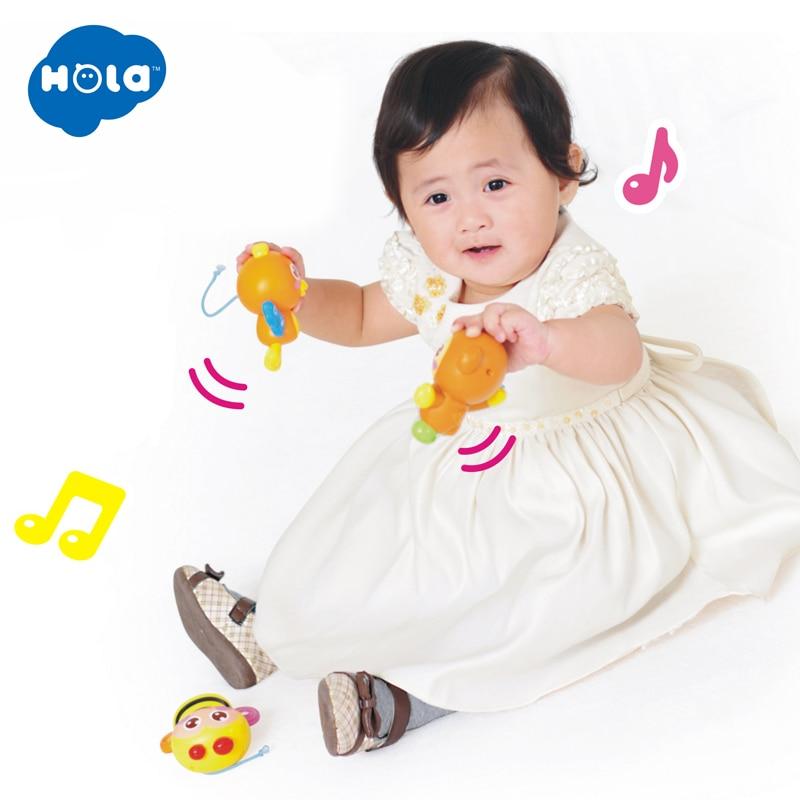 HOLA 818 bébé jouets pépinière lit Mobile avec berceuse musicale sons hochet rotatif loisirs sol lit cloche 0-12 mois - 5