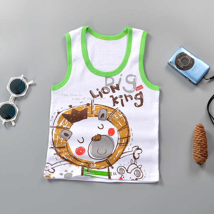 bba797b6e ... Baby Tops Children Vest Boys Girls Summer T Shirts Sleeveless Tank  Camisoles Solid Toddler Tees T ...