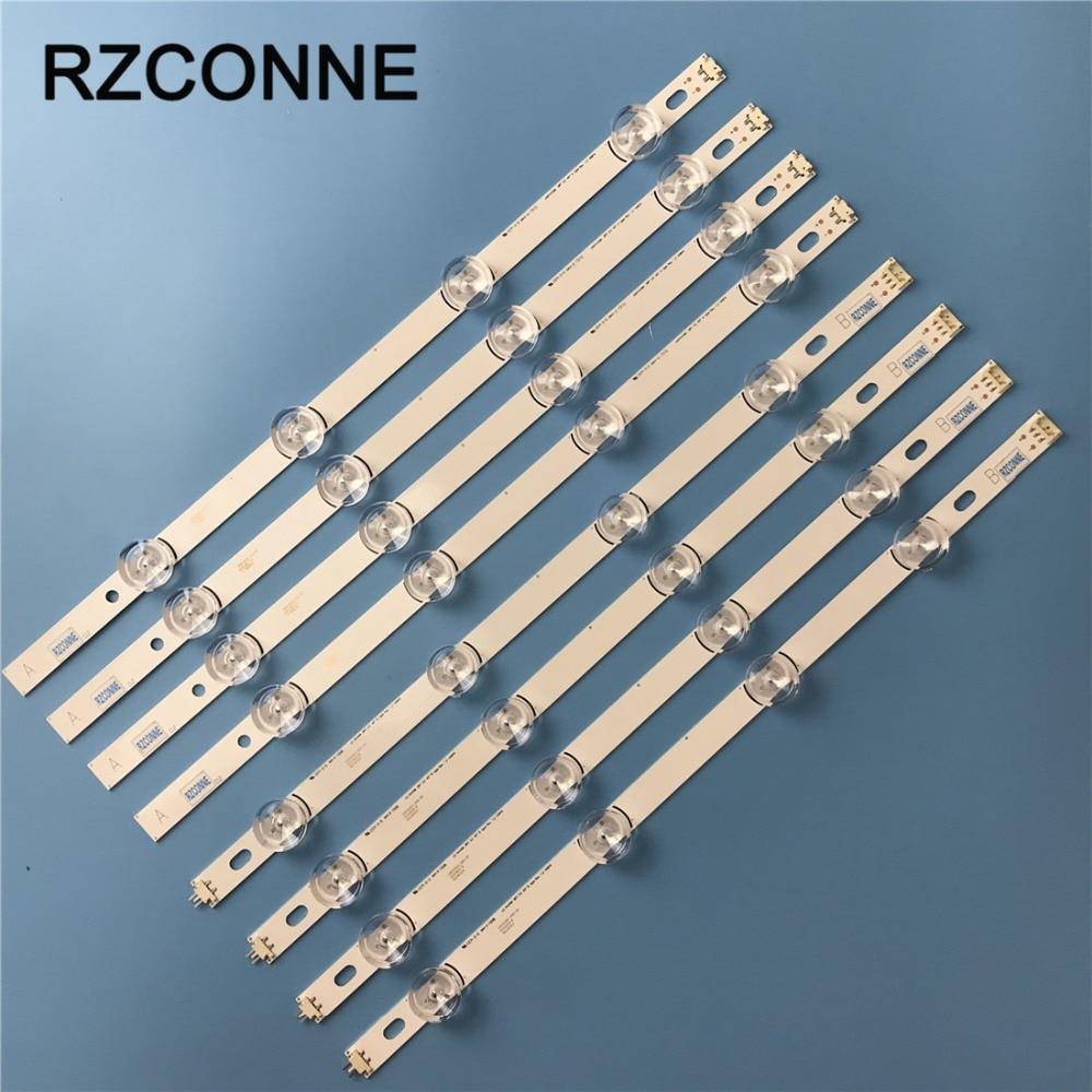 8pcs LED Strip For LG 40 DRT4.0 REV0 7 A/B-Type SVL400 6916L-0884A 6916L-0885A 40LF630V 40LX560H 40LH5300 40LH5700 40LF570V