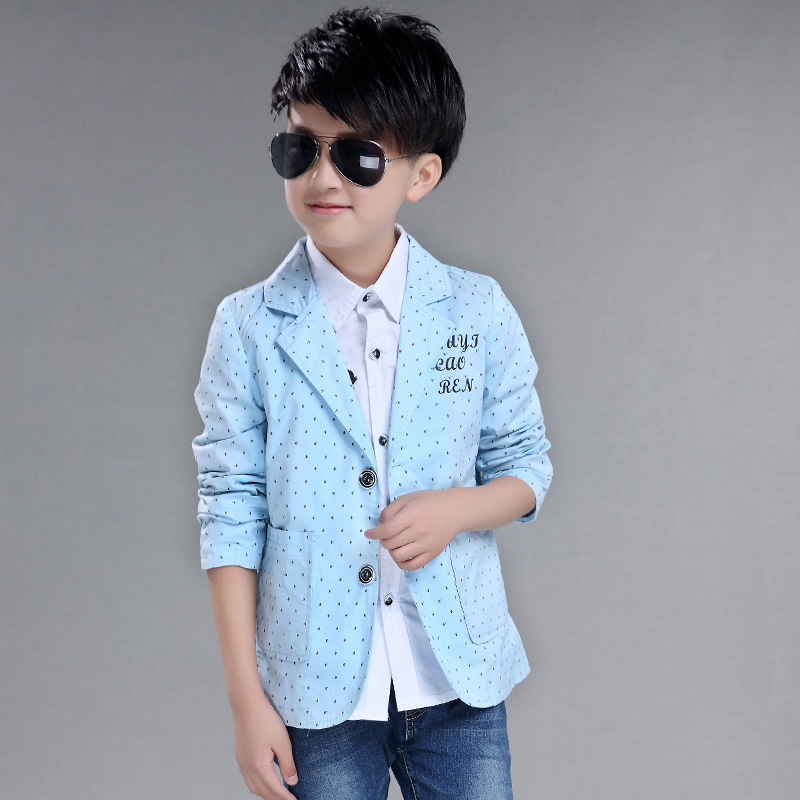 2018 New Spring Baby Boys Suits Blazers Long Sleeves Causal Polka