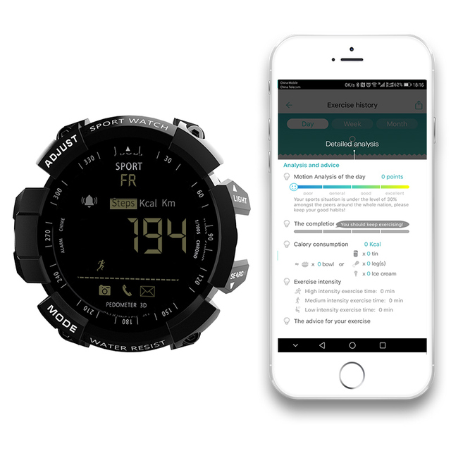 LOKMAT Smart Watch bluetooth digital men clock Pedometer smartwatch Waterproof IP67 Sport For ios Android Phone
