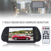 7 TFT LCD Color Screen Car Rear View Mirror Monitor Support SD / USB